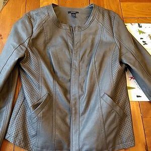 Alfani faux leather moto jacket